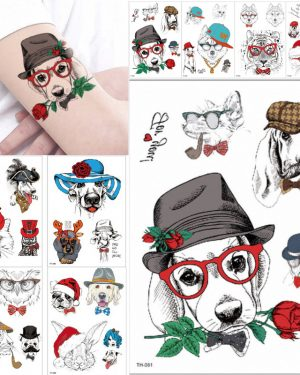 1 Sheet Animal Waterproof Temporary Tattoo