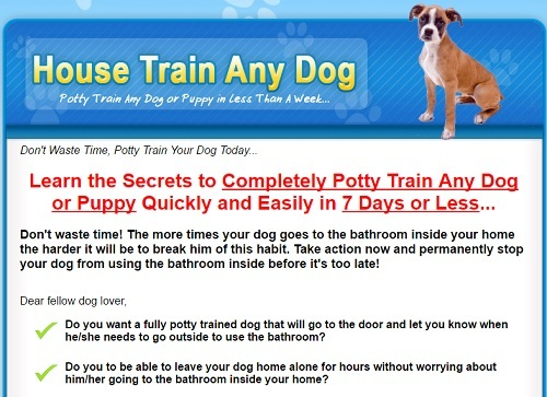 House Train Any Dog Discount Coupon